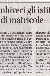 """Rubini, Riva e Ambiveri gli Istituti che registrano il boom di matricole – dall'""""Eco di Bergamo"""" del 23 febbraio 2019"""